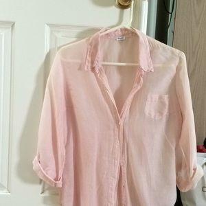 Pretty pink/white striped blouse